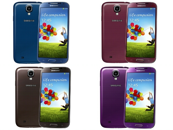 Samsung Galaxy S4 Gets 5 More Colours