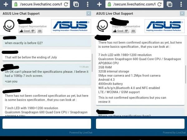 New Nexus 7 Specs Leak from Asus