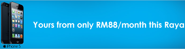 Celcom offering Apple iPhone 5 for RM 1488 this Raya