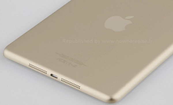 Rumours: Champagne gold iPad mini 2 with fingerprint scanner appears