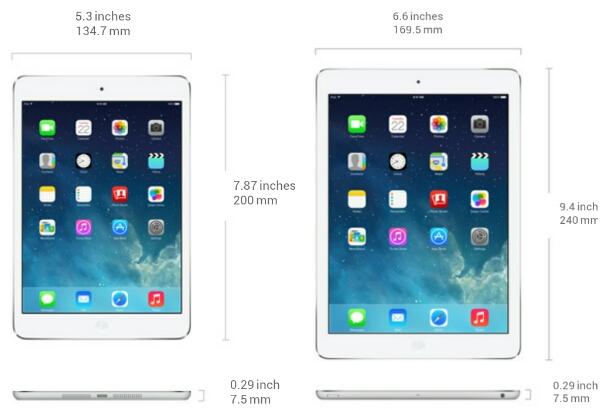 Apple iPad Air vs iPad mini with Retina Display