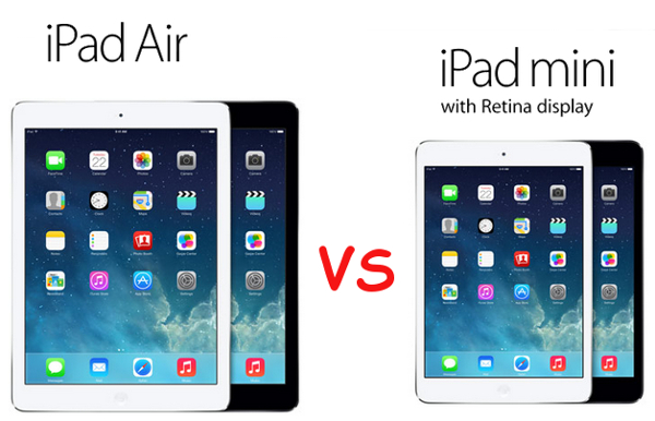 Apple iPad Air vs iPad mini with Retina Display