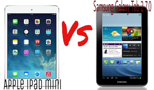 Apple iPad mini vs Samsung Galaxy Tab 2 7.0 comparison