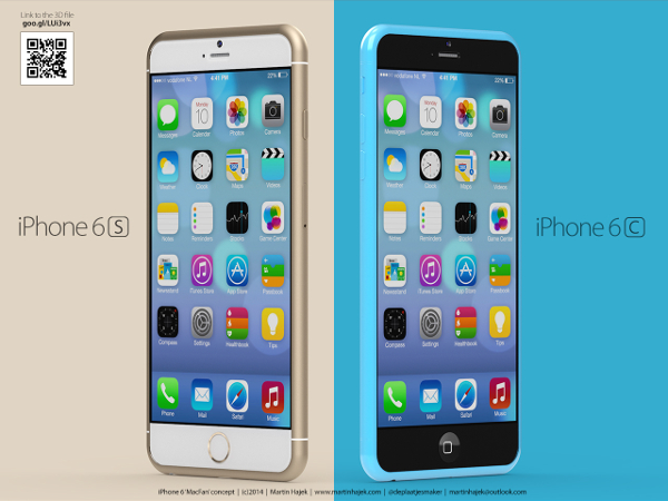 Apple iPhone 6s and iPhone 6c concept render appears