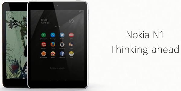 Nokia N1 tablet officially announced, 7.9-inch tablet with Apple iPhone 6 body