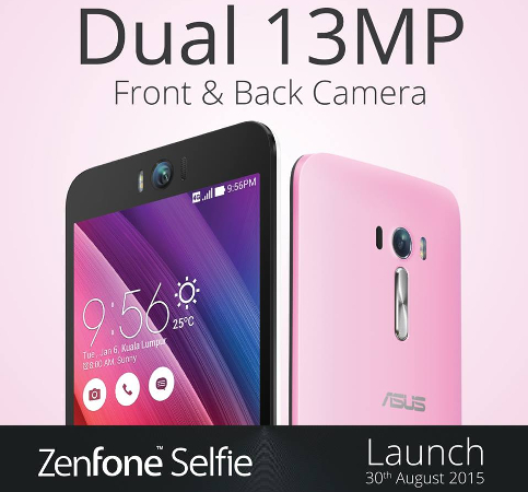 ASUS ZenFone Selfie coming to Malaysia on 30 August 2015 with dual 13MP camera + laser autofocus