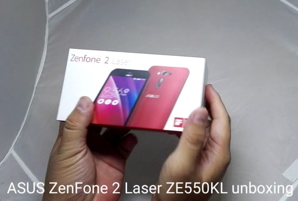 ASUS ZenFone 2 Laser ZE550KL unboxing video
