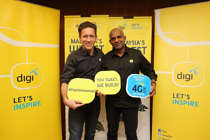 Digi's expands 4G LTE network coverage along with 4G LTE-A and #DigiWeWant4G