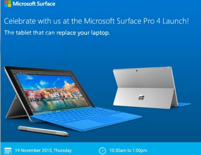 Microsoft surface pro 4 specs technave