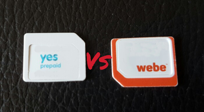 YES 4G LTE vs Webe mobile connection comparison: Which one is faster?