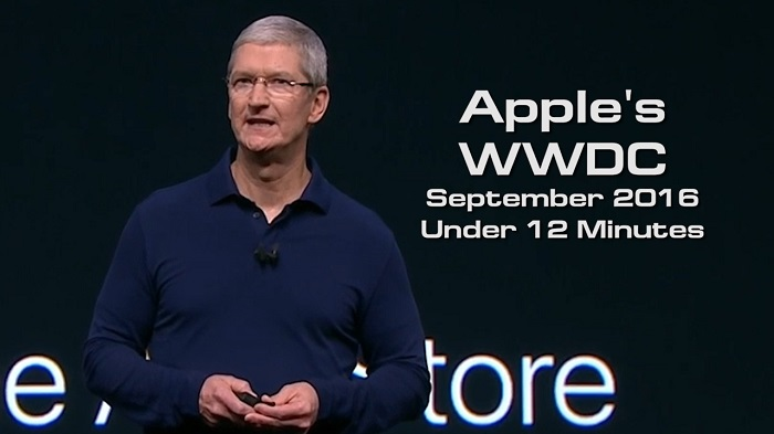 Apple's WWDC Keynote September 2016 under 12 Minutes