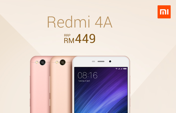 We have a new champion of affordable smartphones. The new Xiaomi Redmi 4A is official in Malaysia, and it is now available from Lazada for only RM 449.
