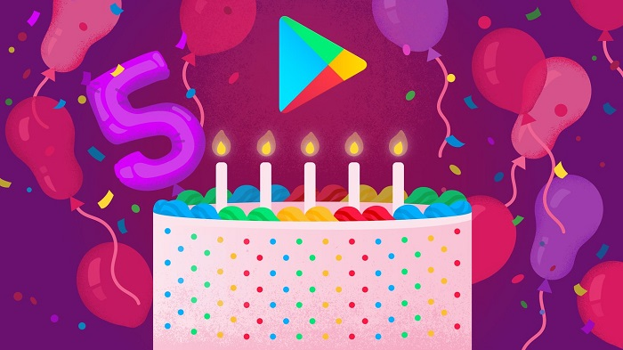 Google Play turns 5! Here's the list of Top 5 apps and games.