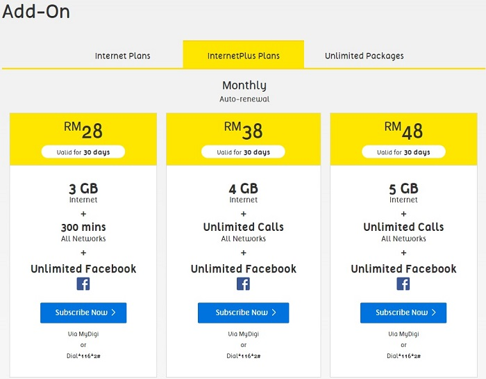 Digi Now Offers The Cheapest Unlimited Calls Plan With Its New Internetplus Prepaid Technave