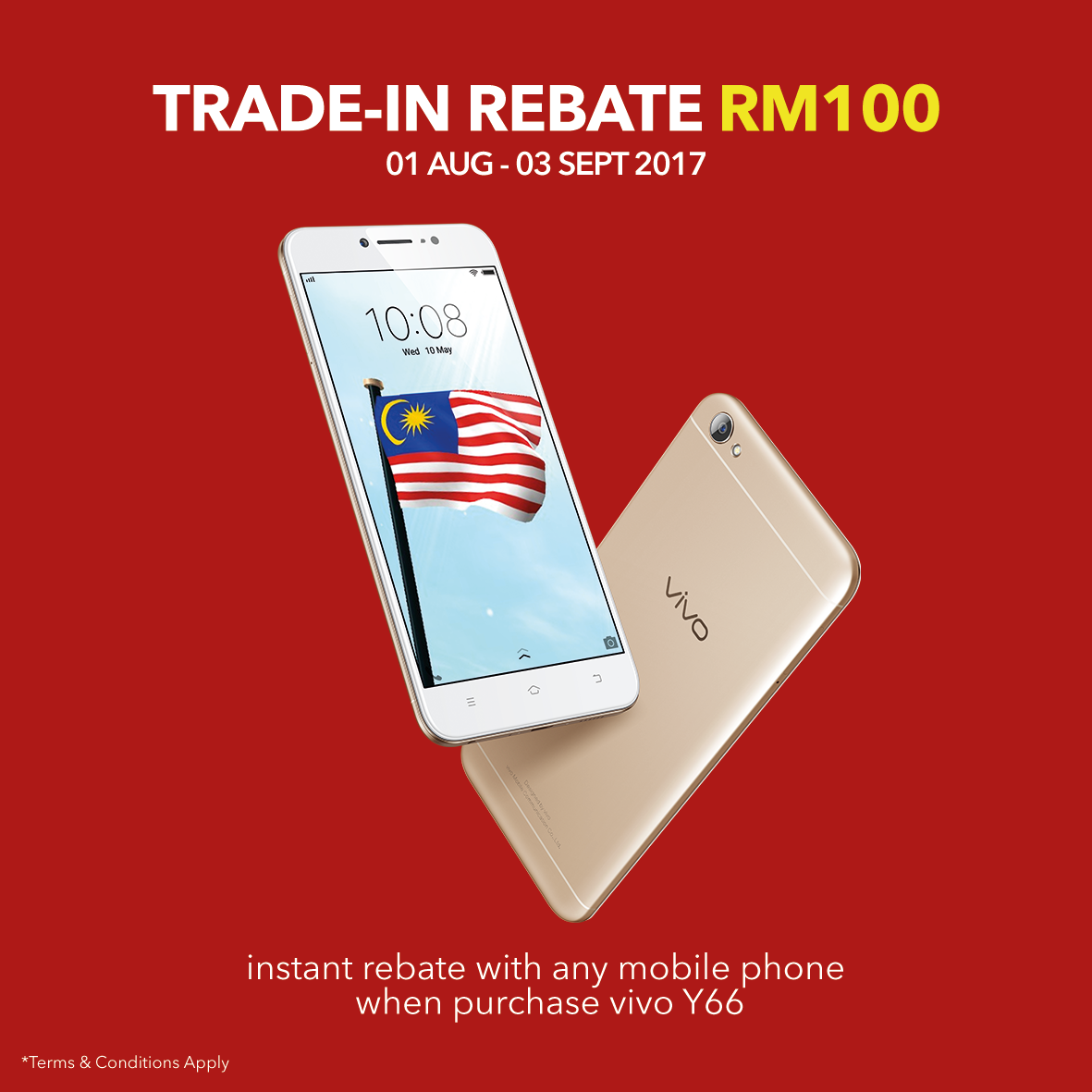 Win cash prizes up to RM5000 in vivo Merdeka Lucky Draw contest