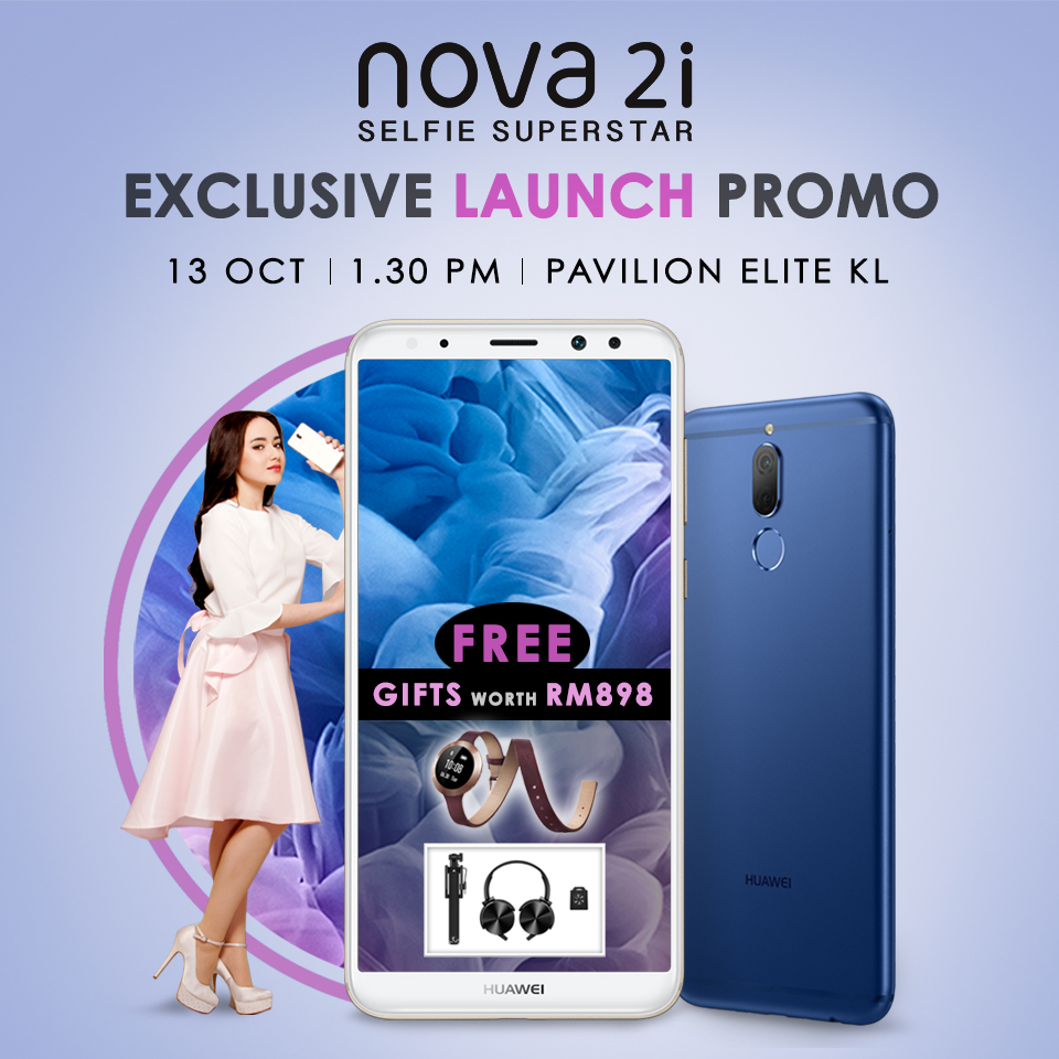 Exclusive gift set increased up to RM898 on Huawei Nova 2i