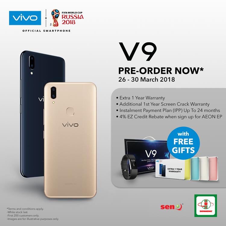 vivo V9 pre-order details - 6 months warranty, a mysterious