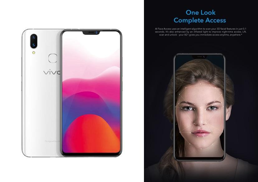 vivo X21 camera capabilities - AI Face Beauty, AI HDR, AI Face