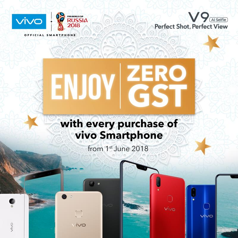 vivo Malaysia releases new 0% GST price list starting from RM750