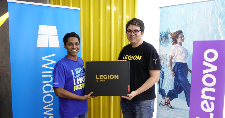 "Lenovo held their first ""Be A Legend"" 1v1 tournament with a prize pool of RM10000 in products"