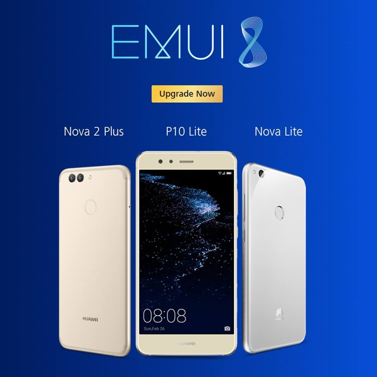 New EMUI 8 0 update rolled out for Huawei Nova Lite, Nova 2