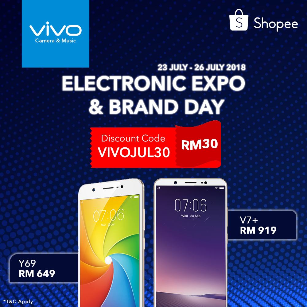 vivo Malaysia giving away a free RM30 voucher for Shopee Electronic Expo