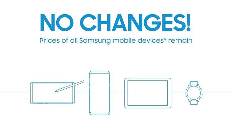 Samsung Malaysia says no price changes on their products!