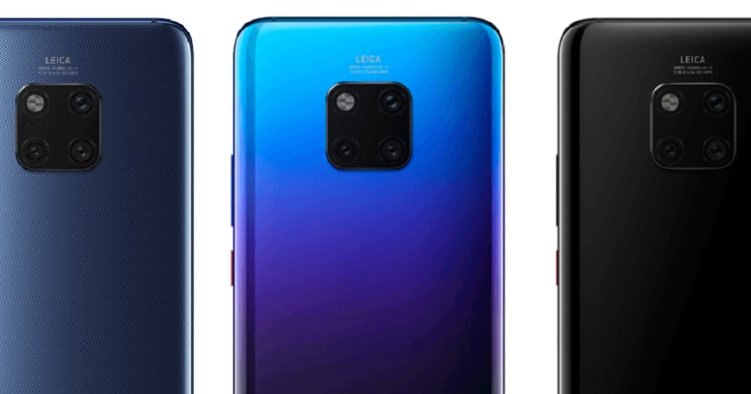 Huawei Mate 20 Pro image render leak shows new twilight colour, a possible in-display fingerprint sensor and more