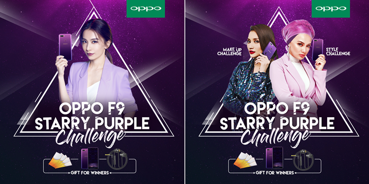 OPPO Malaysia's Starry Purple MakeUp/Style Challenge starts now with a chance to bring home a free F9