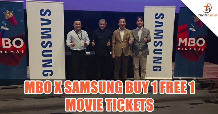 MBO and Samsung teaming up with a Buy 1 Free 1 promo for movie fans