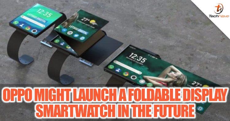OPPO patented a foldable smartwatch with more than 200% larger display when unfolded