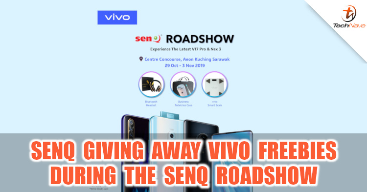 Get vivo freebies from senQ during the senQ roadshow at Aeon Kuching