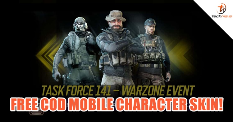 Task Force 141 - Warzone event lets you get a character skin on Call of Duty:Mobile for free
