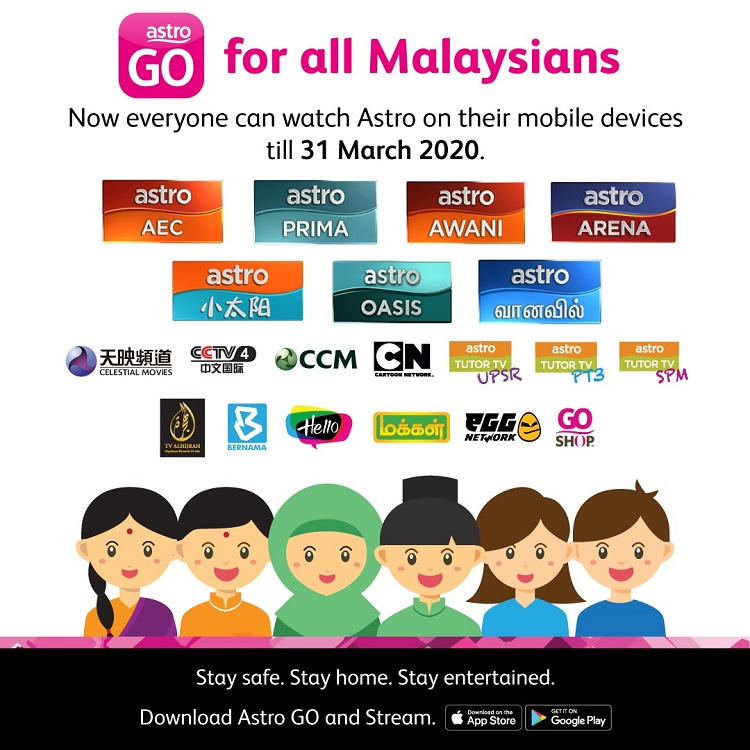 Astro Go Providing Access To 22 Astro Channels To All Malaysians For Free During Mco Technave