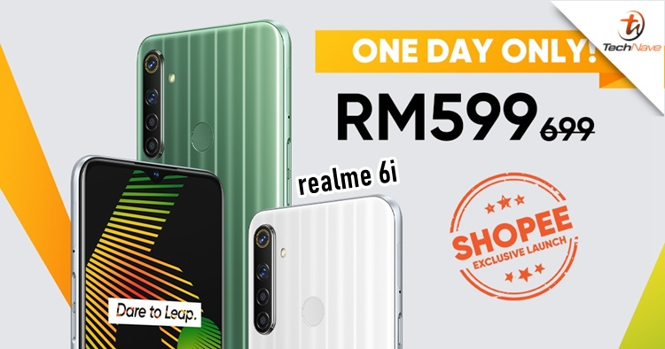The realme 6i will be just RM599 for one day only on Shopee