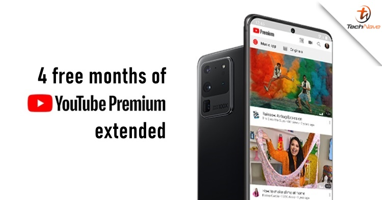 Samsung Malaysia extending free YouTube Premium access up to 4 months until 2021