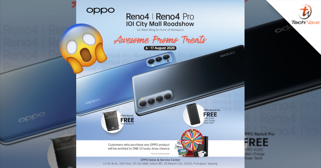Get free VOOC Flash Charge Power Bank and more if you pre-order the OPPO Reno4 series