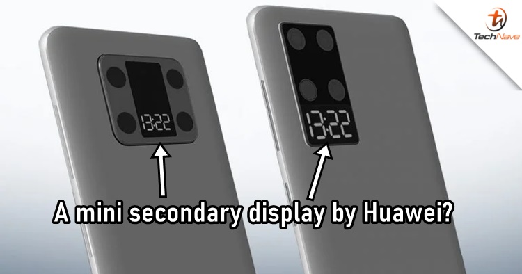 Huawei could have a mini secondary display on the rear camera setup in the future