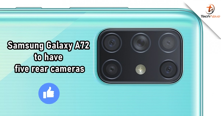 Samsung Galaxy A72 will be the company's first smartphone with five rear cameras