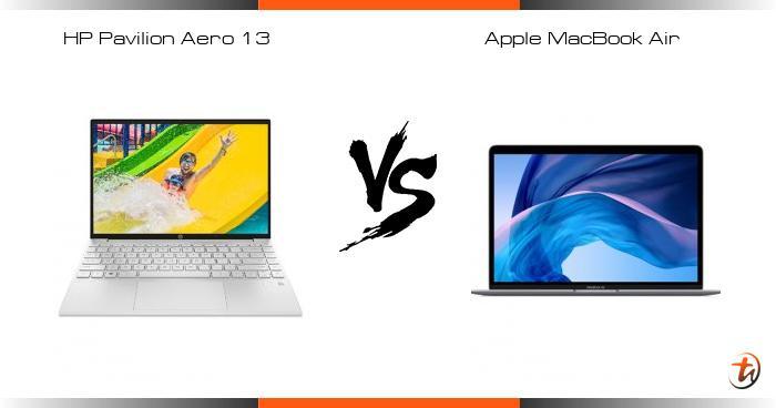 Compare HP Pavilion Aero 13 vs Apple MacBook Air specs and ...